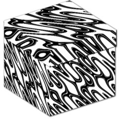 Black And White Wave Abstract Storage Stool 12