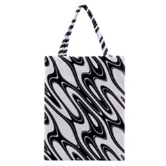 Black And White Wave Abstract Classic Tote Bag