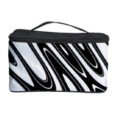 Black And White Wave Abstract Cosmetic Storage Case