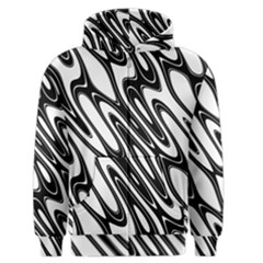 Black And White Wave Abstract Men s Zipper Hoodie