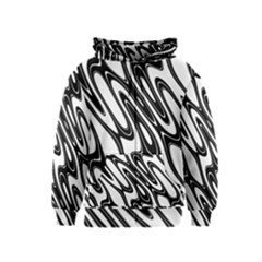 Black And White Wave Abstract Kids  Zipper Hoodie