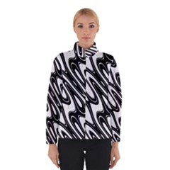 Black And White Wave Abstract Winterwear