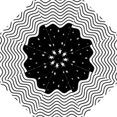 Black And White Waves And Stars Abstract Backdrop Clipart Hook Handle Umbrellas (medium)