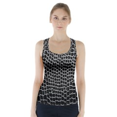 Black White Crocodile Background Racer Back Sports Top