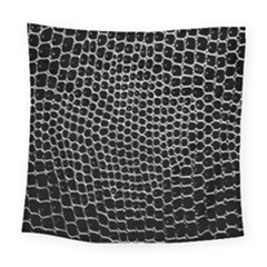 Black White Crocodile Background Square Tapestry (large)