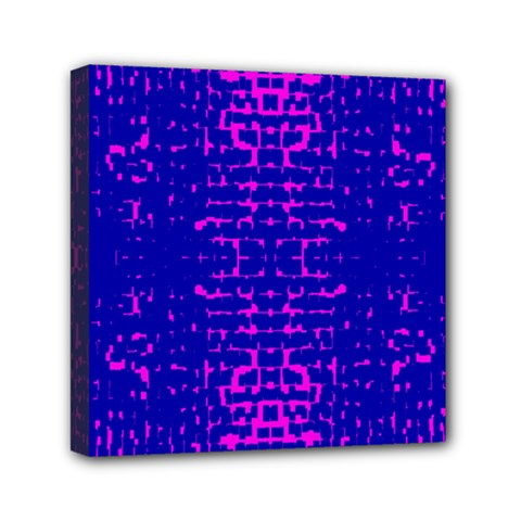 Blue And Pink Pixel Pattern Mini Canvas 6  X 6