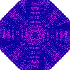 Blue And Pink Pixel Pattern Straight Umbrellas