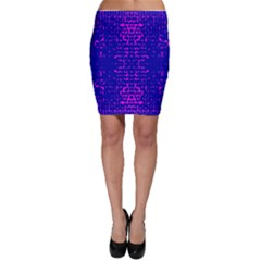 Blue And Pink Pixel Pattern Bodycon Skirt