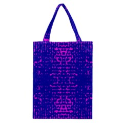 Blue And Pink Pixel Pattern Classic Tote Bag