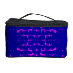 Blue And Pink Pixel Pattern Cosmetic Storage Case