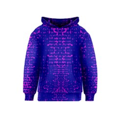 Blue And Pink Pixel Pattern Kids  Pullover Hoodie