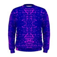 Blue And Pink Pixel Pattern Men s Sweatshirt