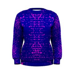 Blue And Pink Pixel Pattern Women s Sweatshirt