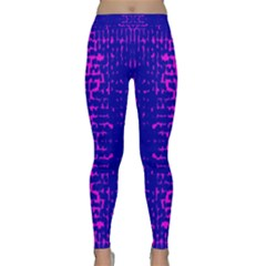 Blue And Pink Pixel Pattern Classic Yoga Leggings