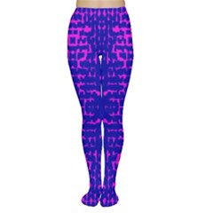 Blue And Pink Pixel Pattern Women s Tights