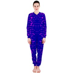 Blue And Pink Pixel Pattern Onepiece Jumpsuit (ladies)