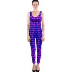 Blue And Pink Pixel Pattern OnePiece Catsuit