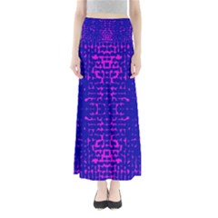 Blue And Pink Pixel Pattern Maxi Skirts