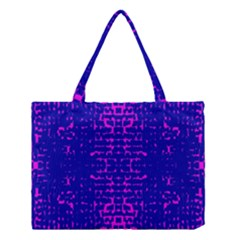 Blue And Pink Pixel Pattern Medium Tote Bag