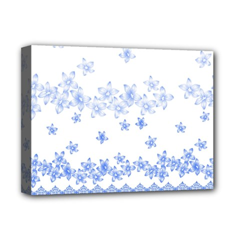 Blue And White Floral Background Deluxe Canvas 16  X 12