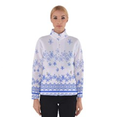 Blue And White Floral Background Winterwear