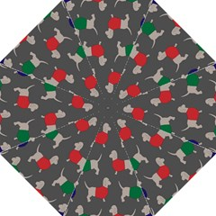 Cute Dachshund Dogs Wearing Jumpers Wallpaper Pattern Background Hook Handle Umbrellas (large)