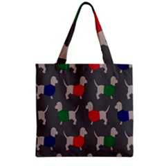 Cute Dachshund Dogs Wearing Jumpers Wallpaper Pattern Background Grocery Tote Bag