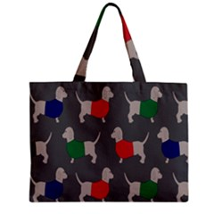 Cute Dachshund Dogs Wearing Jumpers Wallpaper Pattern Background Mini Tote Bag