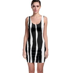 Zebra Background Pattern Sleeveless Bodycon Dress