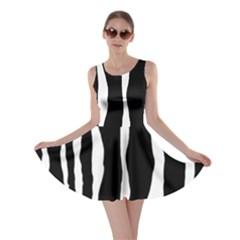 Zebra Background Pattern Skater Dress