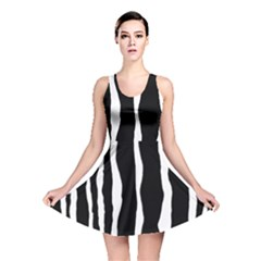 Zebra Background Pattern Reversible Skater Dress