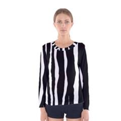 Zebra Background Pattern Women s Long Sleeve Tee