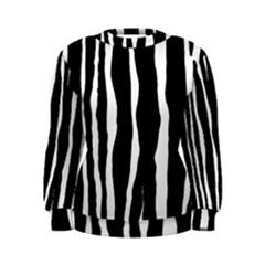 Zebra Background Pattern Women s Sweatshirt
