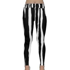 Zebra Background Pattern Classic Yoga Leggings