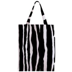 Zebra Background Pattern Zipper Classic Tote Bag