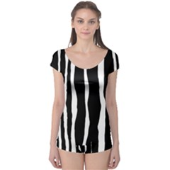 Zebra Background Pattern Boyleg Leotard