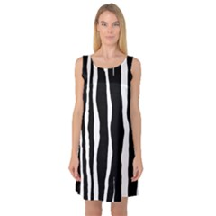 Zebra Background Pattern Sleeveless Satin Nightdress