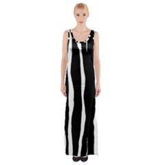 Zebra Background Pattern Maxi Thigh Split Dress