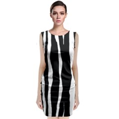 Zebra Background Pattern Classic Sleeveless Midi Dress