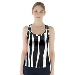 Zebra Background Pattern Racer Back Sports Top