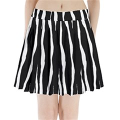 Zebra Background Pattern Pleated Mini Skirt