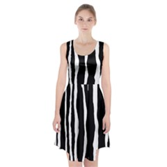 Zebra Background Pattern Racerback Midi Dress