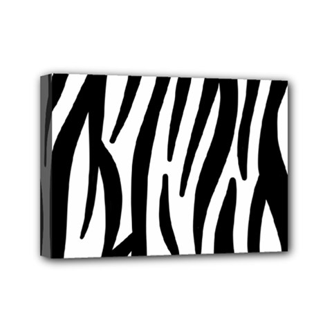 Seamless Zebra A Completely Zebra Skin Background Pattern Mini Canvas 7  X 5