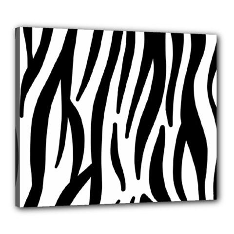 Seamless Zebra A Completely Zebra Skin Background Pattern Canvas 24  x 20