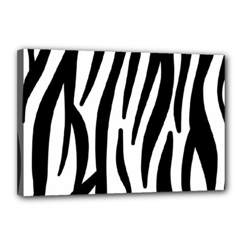Seamless Zebra A Completely Zebra Skin Background Pattern Canvas 18  X 12