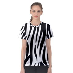 Seamless Zebra A Completely Zebra Skin Background Pattern Women s Sport Mesh Tee
