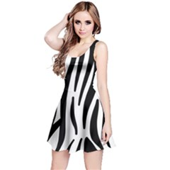 Seamless Zebra A Completely Zebra Skin Background Pattern Reversible Sleeveless Dress