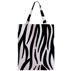 Seamless Zebra A Completely Zebra Skin Background Pattern Zipper Classic Tote Bag