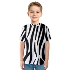 Seamless Zebra A Completely Zebra Skin Background Pattern Kids  Sport Mesh Tee