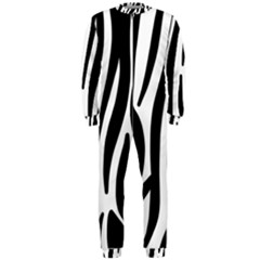 Seamless Zebra A Completely Zebra Skin Background Pattern Onepiece Jumpsuit (men)